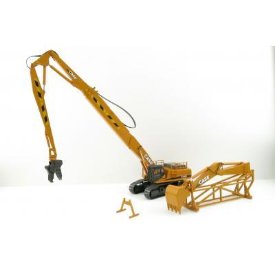 Conrad 2923/0 CASE CX 800 Excavator with Long Boom Demolition & Bucket Arm - Scale 1:50