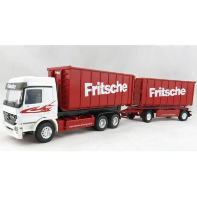Conrad 40156/0 Mercedes Benz Actros 3-axle Recycling Roll-Off Container Truck with Trailer FRITSCHE Scale 1:50
