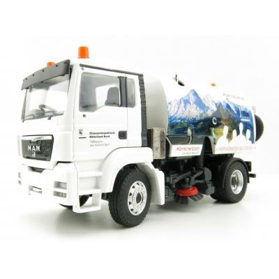 Conrad 71212/02L - MAN TGS M Road Sweeper Truck Bucher-Schörling City Fant 6000 - Scale 1:50
