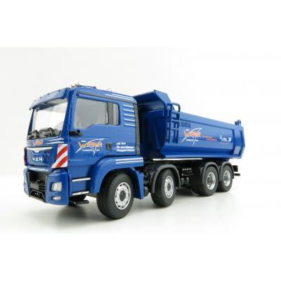 Conrad 77215/03 MAN TGS TGS 4-axle Half Pipe Tipper Truck - Carnehl Scale 1:50