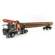 Conrad 78179/01 Mercedes Benz Arocs Truck and Doll Long Timber Transporter NEUHAUSER Scale 1:50
