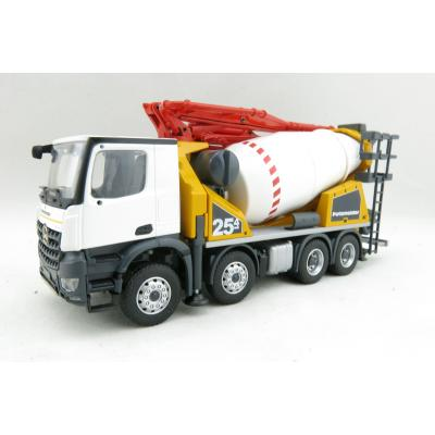 Conrad 78227/0-L Mercedes Benz Arocs 4-axle Truck with Putzmeister PUMI 25-4 Concrete Mixer + Concrete Pump Scale 1:50