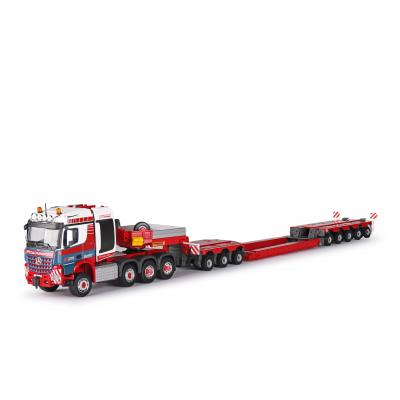 Conrad 78246/0 - MERCEDES-BENZ Arocs 8x6 Prime Mover with FAYMONVILLE Combimax Low Loader Trailer - SPIEGL - Scale 1:50