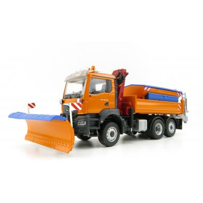 Conrad 81206/0 - MAN TGS NN Winter Service Truck 3-axle  with Gritting Structure & Snow Shield & Crane - Scale 1:50