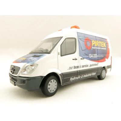 Conrad Australian Mercedes - Benz Sprinter Service Van Pirtek Fluids 1610-11 Diecast Scale 1:50