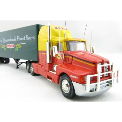 P.E.M. - World Car Collectables Australian Kenworth T600 A LINFOX WITH XXXX Beer QLD Trailer - Scale 1:64