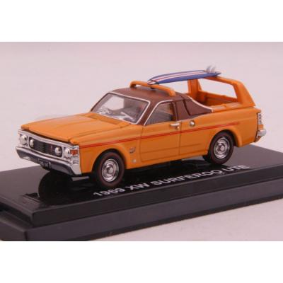 Road Ragers - 1969 Ford Falcon XW GS Surferoo Ute Utility Surfer Orange Diecast  - Scale 1:64