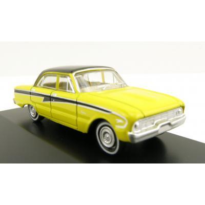Road Ragers - Australian 1960 Ford XK Falcon Sedan in Acacia Yellow - H0 Scale 1:87