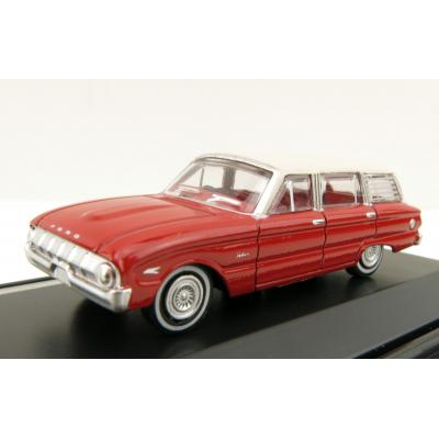 Road Ragers - Australian 1962 Ford XL Falcon Station Wagon in Woomera Red - H0 Scale 1:87
