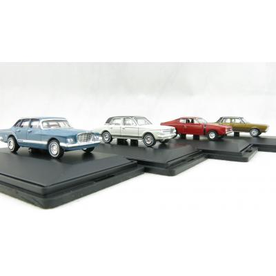 Road Ragers Australian Chrysler Valiant 4 Car Set S, VG,  AP5 and Charger - Scale 1:87