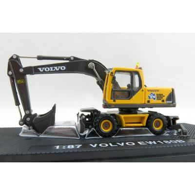 Road Ragers - Volvo EW180 B Mobile Wheeled Excavator Australian Constrution & Demolition Company - Scale 1:87