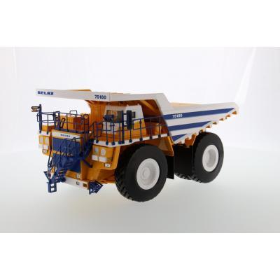BELAZ 75180 Mining Dump Truck White Body - Scale 1:50