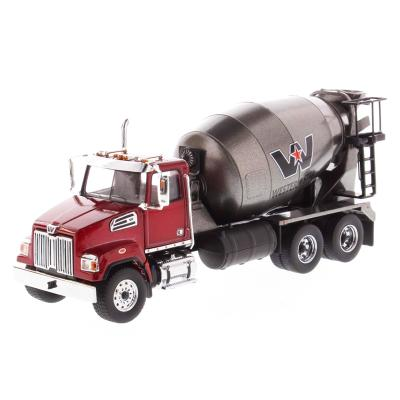 Diecast Masters 71033 - Western Star 4700 SF Concrete Mixer Truck Red - Scale 1:50