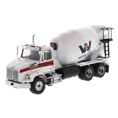 Diecast Masters 71035 - Western Star 4700 SB Concrete Mixer Truck White - Scale 1:50