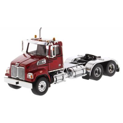 Diecast Masters 71037 - Western Star 4700 SF Tandem Day Cab Red - Scale 1:50