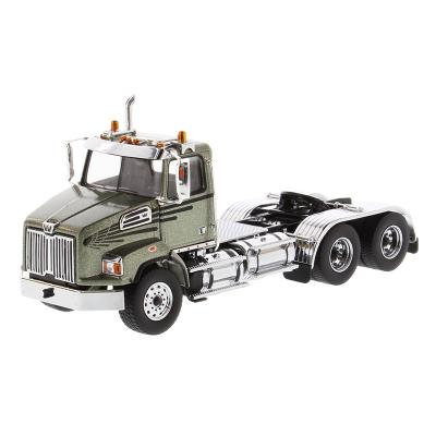 Diecast Masters 71038 - Western Star 4700 SB Tandem Day Cab Olive Green Metallic  - Scale 1:50