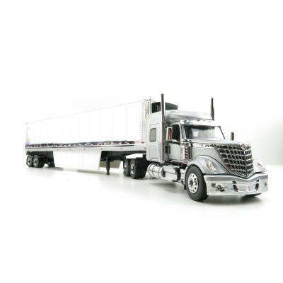 Diecast Masters 71043 - International LoneStar Truck Silver with 53' Chrome Plated Refrigerated Trailer - Scale 1:50