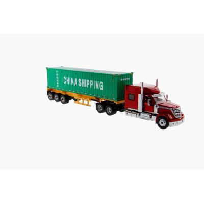 Diecast Masters 71045 - International LoneStar Truck red with Skel Trailer 40ft China Shipping Container - Scale 1:50