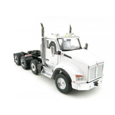 Diecast Masters 71058 - Kenworth T880  Tandem Metallic white SBFA Day Cab Pusher-Axle Prime Mover - Scale 1:50
