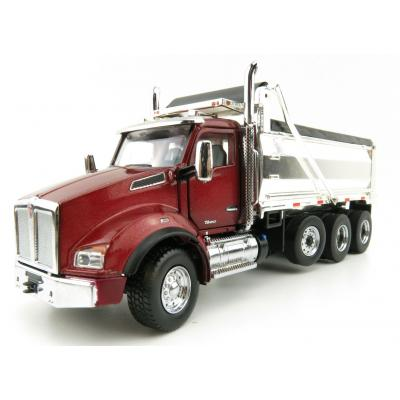 Diecast Masters 71059 - Kenworth T880 SBFA Dump Truck Radiant Red Chrome - Scale 1:50