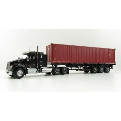 Diecast Masters 71060 - Kenworth T880 SFFA Black Truck with 40ft TEX Container trailer - Scale 1:50