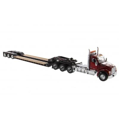 Diecast Masters 71061 - KENWORTH T880 SBFA PRIME MOVER WITH XL 120 Lowboy HDG Trailer & 3 ACCESSORIES - Scale 1:50