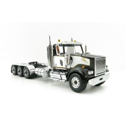 Diecast Masters 71066 - Western Star 4900 SF Day Tri Black Tandem Prime Mover with Stripe  - Scale 1:50