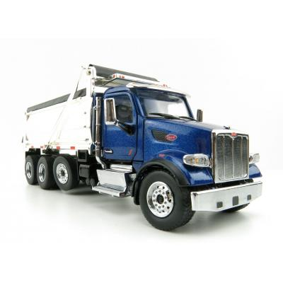 Diecast Masters 71073 - Peterbilt 567 Dump Truck Blue with Chromed Dump Body  - Scale 1:50