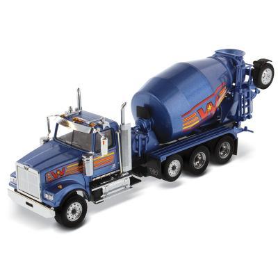 Diecast Masters 71075 - Western Star 4900 Blue Metallic Cement Mixer McNeilus BridgeMaster - Scale 1:50