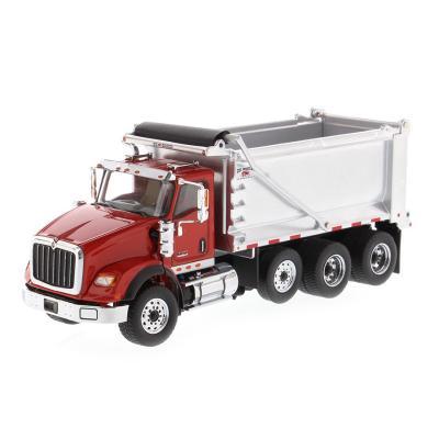 Diecast Masters 71076 - International HX620 SB Red Dump Truck OX Stampede - Scale 1:50