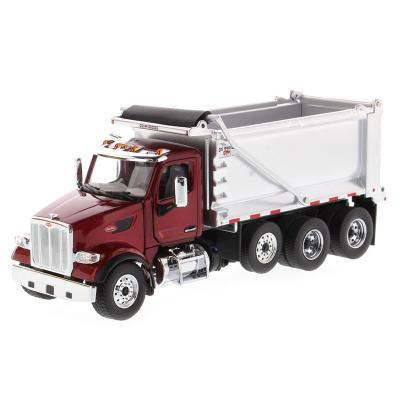 Diecast Masters 71077 - Peterbilt 579 Metallic Red Dump Truck OX Stampede - Scale 1:50