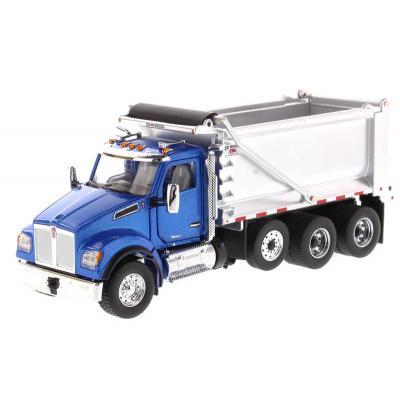 Diecast Masters 71078 - Kenworth T880 Metallic Blue Dump Truck OX Stampede - Scale 1:50