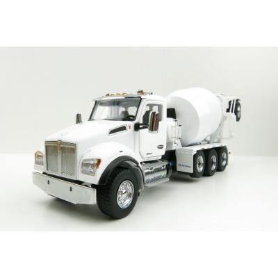 Diecast Masters 71081 - Kenworth T880 SBFA White Cement Mixer McNeilus BridgeMaster Mixer - Scale 1:50