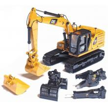 Diecast Masters 85657 - Caterpillar  Cat 323 Next Generation Mod HEX Hydraulic Excavator with 4 Attachments - Scale 1:50