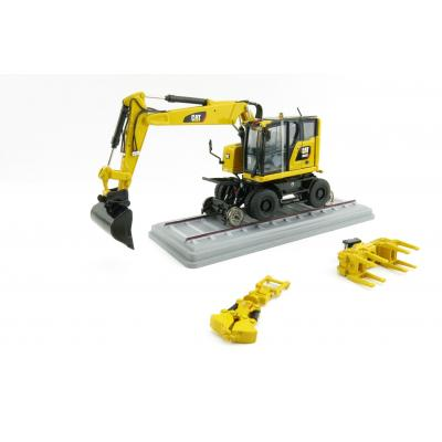 Diecast Masters 85661 - CAT M323F Railroad Wheel SY Excavator High Line Series - Scale 1:50