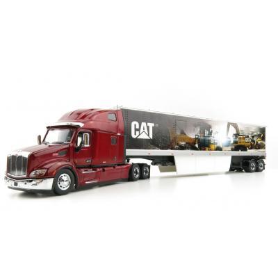 Diecast Masters 85665 - Peterbilt 579 Ultraloft Cab Truck with CAT Mural Trailer - Scale 1:50
