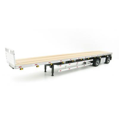 Diecast Masters 91023 - US 53' Flat bed trailer - Silver - Scale 1:50