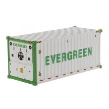 Diecast Masters 91026A - 20 ft Refrigerated Shipping Container EverGreen - Scale 1:50