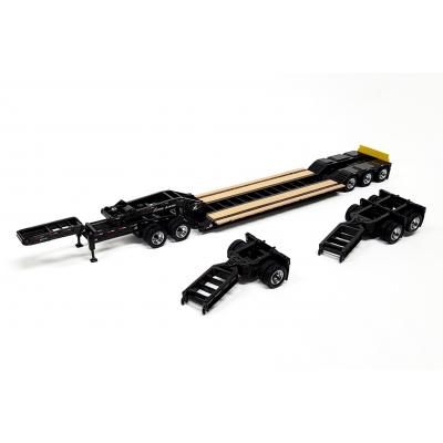 Diecast Masters 91033 - US XL 120 Low Loader HDG Trailer Outrigger Style with 2 Boosters and Jeep - Scale 1:50