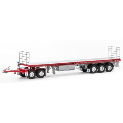 Drake ZT09137 AUSTRALIAN Maxitrans Freighter Trailer & Dolly Road Train Set Red & Silver - Scale 1:50