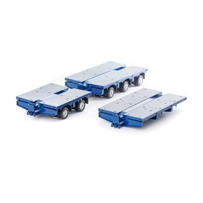 Drake ZT09076A AUSTRALIAN Heavy Haulage 7x8 Steerable Trailer 2x8 3x8 Clip Trailer Accessory Kit Metallic Blue  - Scale 1:50
