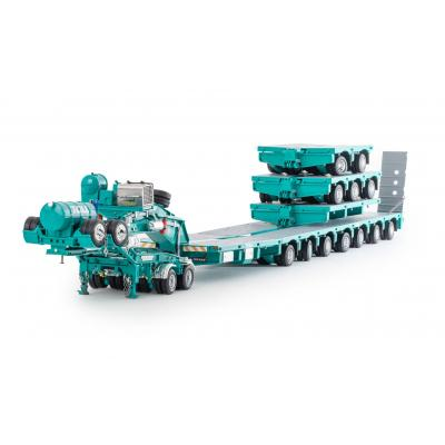 Drake ZT09218AB AUSTRALIAN Heavy Haulage Drake 7x8 Steerable Trailer with 2x8 Dolly & Accessory Set Toll - Scale 1:50