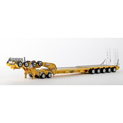 Drake ZT09236 AUSTRALIAN Drake 5x8 Swingwing Drop Deck Trailer and 2x8 Dolly Yellow Heavy Haulage - Scale 1:50