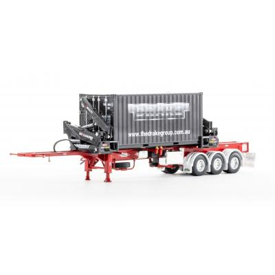 Drake ZT09247 AUSTRALIAN O'Phee BoxLoader Side Loading Trailer with Container - Red - Scale 1:50