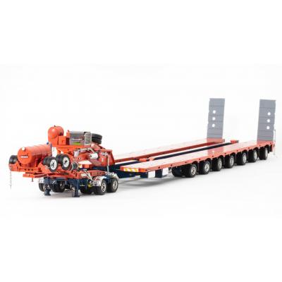 Drake ZT09069 AUSTRALIAN Heavy Haulage Drake 7x8 Steerable Trailer with 2x8 Dolly Drake Trailer QLD - Scale 1:50