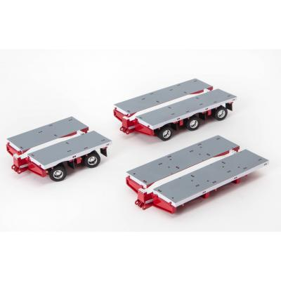Drake ZT09071A AUSTRALIAN Heavy Haulage 7x8 Steerable Trailer 2x8 3x8 Clip Trailer Accessory Kit White Red - Scale 1:50
