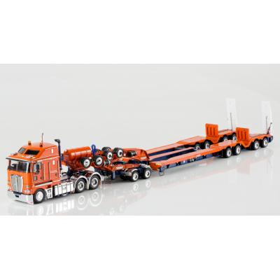 Drake ZT09046 AUSTRALIAN K200 Prime Mover with Drake 2x8 Dolly and 4x8 Dragline Bucket Trailer Drake Trailers - Scale 1:50