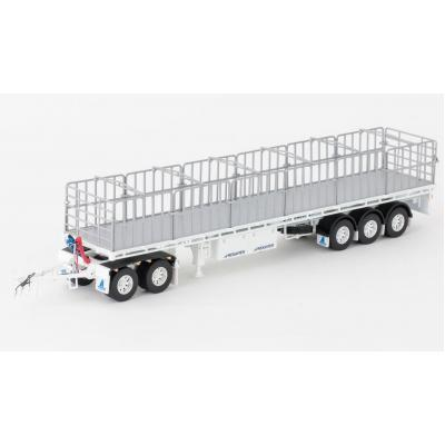 Drake ZT09138 AUSTRALIAN Maxitrans Flat Top Freighter Trailer & Dolly Road Train Set White - Scale 1:50