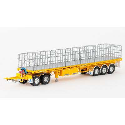 Drake ZT09148 AUSTRALIAN Maxitrans Freighter Trailer & Dolly Road Train Set Yellow - Scale 1:50