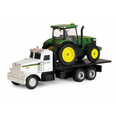 ERTL 45410 - John Deere Peterbilt Truck with John Deere 7200R Tractor - Scale 1:64